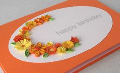 Handmade birthday card with paper quilling by PaperDaisyCardDesign, £5.50