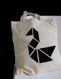 ae6189d92c69c DIY  canvas bag with tangram print