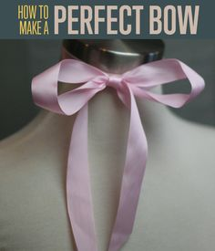 How to make a perfect bow out of ribbon! Find this and 100s of other craft tutorials & projects, along with great photo & video, at DIYReady.com