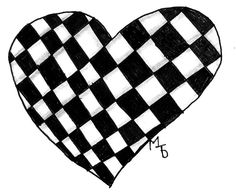 I drew a heart and put in the pattern Knightsbridge from using The Zentangle® Method!!