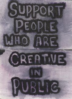 Creative quotes. Also support those who are not quite ready to share their creativity in public.