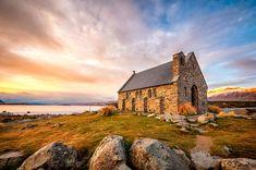 Church of the Good Shepard, Lake Tekapo - New Zealand's South Island Is Heaven On Earth Into The Wild, Good Shepard, The Good Shepherd, Best Hotel Deals, Best Hotels, Islas Cook, Lake Tekapo, Destinations, New Zealand South Island