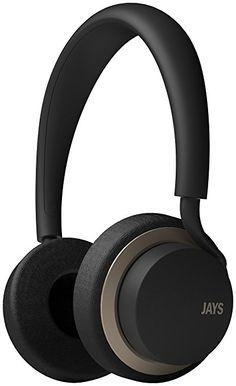 Jays u-Jays T00116-Auriculares de diadema, color negro y dorado