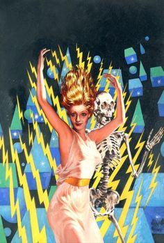 astromonster: A. Merritt, The Metal Monster, illustration by Virgil Finlay for Famous Fantastic Mysteries