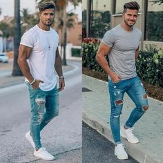 185 simple shirt outfits for men – page 1 Summer Outfits Men, Stylish Mens Outfits, Mens Style Guide, Men Style Tips, Herren Outfit, Simple Shirts, Mens Clothing Styles, Sexy Men, Menswear