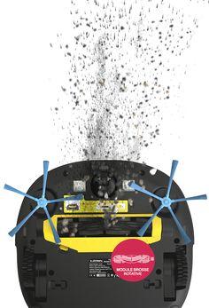 Robot aspirateur bac à eau