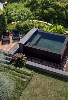 Plunge pools: what you need to know Dreaming of a swimming pool but don't think you have the space? A plunge pool could be your answer.<br> Dreaming of a swimming pool but don't think you have the space? A plunge pool could be your answer. Small Swimming Pools, Small Pools, Swimming Pools Backyard, Swimming Pool Designs, Pool Spa, Lap Pools, Indoor Pools, Pool Decks, Small Backyards
