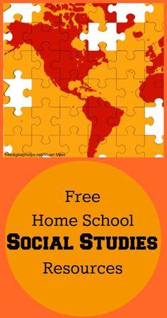 Free SOCIAL STUDIES Home School Resources
