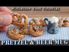 Miniature Pretzel/Brezel and Beer Mug // Polymer Clay Tutorial - YouTube
