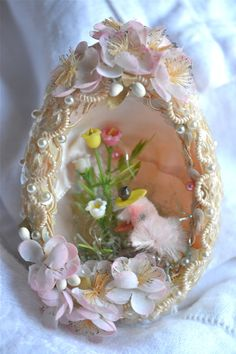 Vintage Beaded Panoramic Easter Egg Ornament by pumpkintruck, $25.00