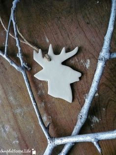 Stag Head Clay Ornament Tag  Decoration  Deer by SimpleHomeLife, $5.00