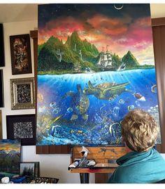 Robert Lyn Nelson  Painting 2015 Hawaii  Artist painting  @robertlynnelson.com