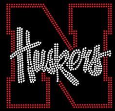 Nebraska Cornhuskers Rhinestone Transfer