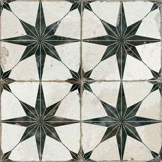 Merola Tile Kings Star Nero Encaustic in. Ceramic Floor and Wall Tile sq. / case)-FPESTRN - The Home Depot - Merola Tile Kings Star Nero Encaustic in. Ceramic Floor and Wall Tile sq. / case)-FPESTRN – The Home Depot - Vintage Industrial Decor, Blue Tiles, Patterned Kitchen Tiles, Patterned Wall, Tiles Texture, Reno, Tile Patterns, Stone Tiles, Blue Heron