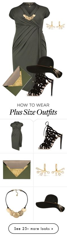 """""""plus size beyond divah"""" by kristie-payne on Polyvore featuring River Island, Billabong, Dareen Hakim and Elizabeth and James"""