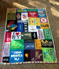 My tshirt quilt! I used the tutorial from www.instructables.com/id/T-shirt-Quilts