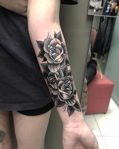 Trendy Ideas For Flower Tattoo Sleeve Forearm Black Forearm Cover Up Tattoos, Flower Cover Up Tattoos, Rose Tattoo Cover Up, Cover Up Tattoos For Women, Hand Tattoos For Girls, Cross Tattoos For Women, Black Tattoo Cover Up, Forarm Tattoos, Sleeve Tattoos