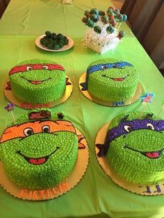Ninja turtle cakes!