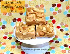 Homemade Payday Candy Bars | Michelle's Tasty Creations | Bloglovin'