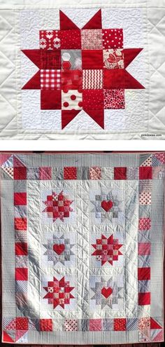 Sew Block Quilt Uppsula Stars quilt pattern at Pink Doxies Más - When your skin needs extra hydration, why not make body butter at home? This tutorial makes pampering your skin easy. Star Quilt Blocks, Star Quilt Patterns, Star Quilts, Easy Quilts, Mini Quilts, Block Quilt, Quilting Projects, Quilting Designs, Two Color Quilts