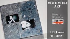 mixed media art canvas tutorial