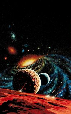 """Par l'artiste allemand Alfred Kelsner"" L'astronomie (astronomie ou astronomie) est are generally scientific research Sci Fi Wallpaper, Planets Wallpaper, Wallpaper Space, Galaxy Wallpaper, Art Galaxie, Cosmos, Mayor Tom, Digital Foto, Space Artwork"