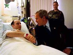 President Bush Visits Walter Reed Patients