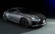 Download wallpapers Lexus RC F, 2017, gray sports coupe, supercar, 10th Anniversary, Limited Edition, Lexus