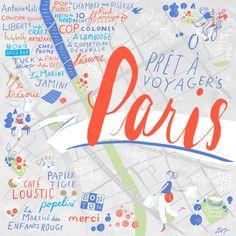 24 Hours in Paris (tale of a map by Libby VanderPloeg)