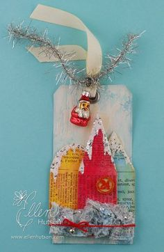 12 days of christmas with a feminine twist tutorials - excellent (how to make 12 tags from 2011, 2010 and 2009)