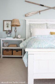 Sally Lee by the Sea   Beach Cottage Master Bedroom!   http://nauticalcottageblog.com