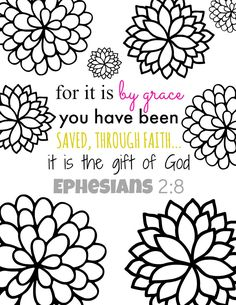 for it is by grace bible verse coloring page printables free adult coloring pagesflower - Free Pictures To Color
