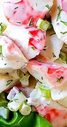 This crab salad is a blend of imitation crab, vegetables and herbs, all tossed in a simple creamy dressing. A quick and easy salad! Crab Salad, Seafood Salad, Easy Salads, Healthy Salads, Salad Bar, Soup And Salad, Greek Salad Pasta, Pinterest Recipes