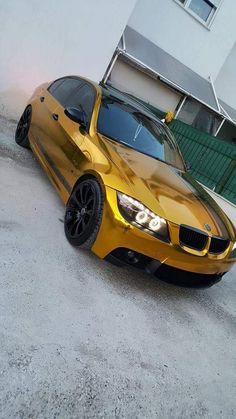 BMW E90 3 series gold