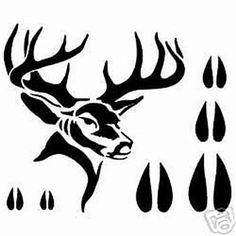 Image result for Deer Stencils for Leather