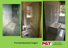 Pavimentazione bagno appartamento - P&T di Trumellini  Per info: 0381/660318 - info@trumellini.it - www.trumellini.it