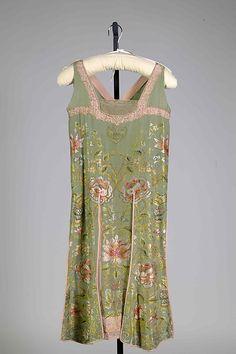 Evening dress Design House: Callot Soeurs (French, active 1895–1937) Designer: Madame Marie Gerber (French) Date: ca. 1926 Culture: French Medium: Silk, metallic