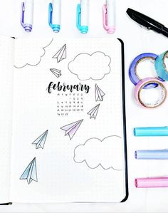 February bullet journal cover by ig Februar bullet journal cover von ig @ studyshrub. Bullet Journal Month Cover, February Bullet Journal, Bullet Journal Monthly Spread, Bullet Journal 2019, Bullet Journal Themes, Bullet Journal Layout, Bullet Journal Inspiration, Bullet Journal Ideas Templates, My Planner Colibri