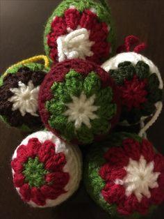 Bolas de Navidad crochet