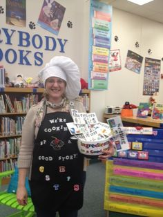 The Book Fairy-Goddess: Recipe for Research! School Library Lessons, Library Lesson Plans, Elementary School Library, Library Skills, Elementary Schools, Library Games, Library Boards, Library Science, Library Activities