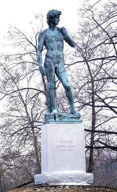 A replica of Michelangelo's David in Buffalo, New York, USA.