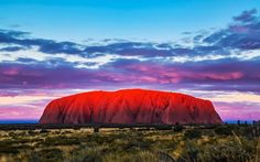 Ayer's Rock (Uluru) - Australia (must see) What A Wonderful World, Wonderful Places, Beautiful Places, Oh The Places You'll Go, Places To Travel, Places To Visit, Beautiful Sunset, Beautiful World, Brisbane