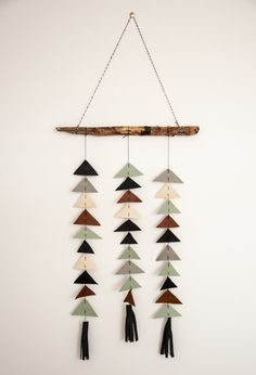 Branch Wall Hanging Leather in Aspen van GreyNorthShop op Etsy