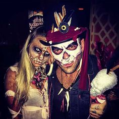 Scary Couples Halloween Costume Witch-doctor and Voodoo