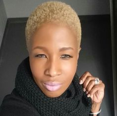 Yessss Natural Hair Twa, Tapered Natural Hair, Tapered Twa, Blonde Twa, Blonde Hair, Short Sassy Hair, Short Hair Cuts, Short Pixie, Short Natural Styles