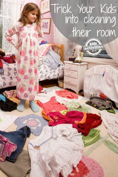 How to trick your kids into cleaning their room  #organization #organizationtips #organizationwithkids
