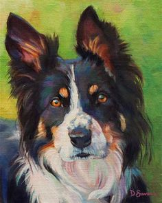 "Daily Paintworks - ""Keen"" - Original Fine Art for Sale - © Deborah Savo"