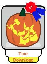 Free Superhero Pumpkin Stencils