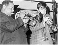 Lenny Johnson and Herb Pomeroy playing trumpet together