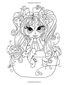 Amazon.com: Lacy Sunshine's Flower Pot Pretties Coloring Book Volume 6: Magical…